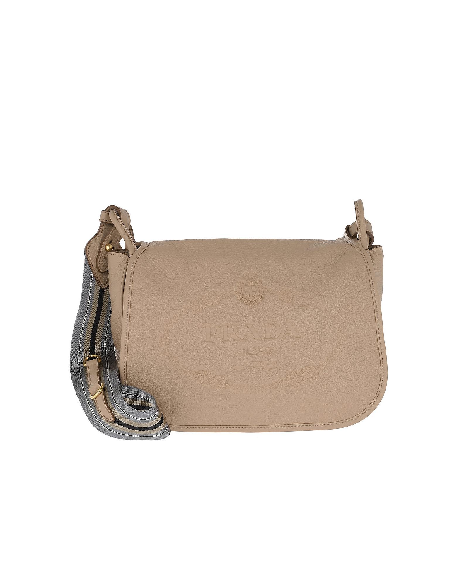 90d4004a9014 Prada Calf Leather Logo Shoulder Bag Cammeo | ModeSens