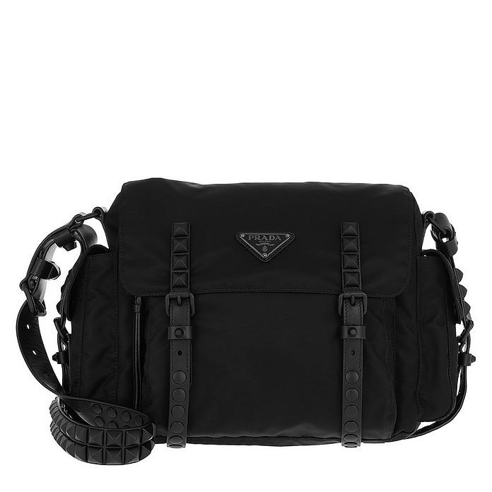 511fdc013cad Prada Shoulder Bag Nylon Leather Black Black at FORZIERI Australia
