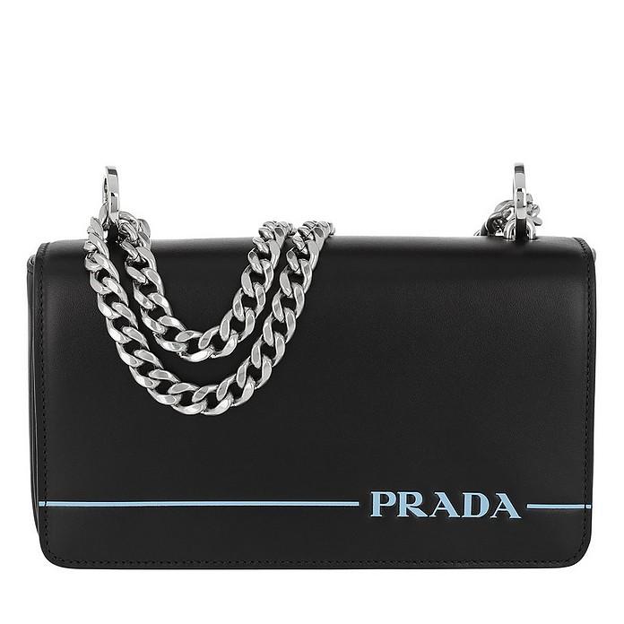 Logo Stripe Crossbody Bag Black - Prada / プラダ
