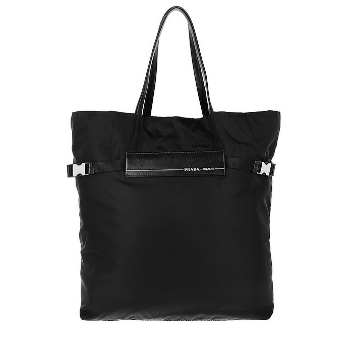 Logo Tote Bag Nylon Black - Prada