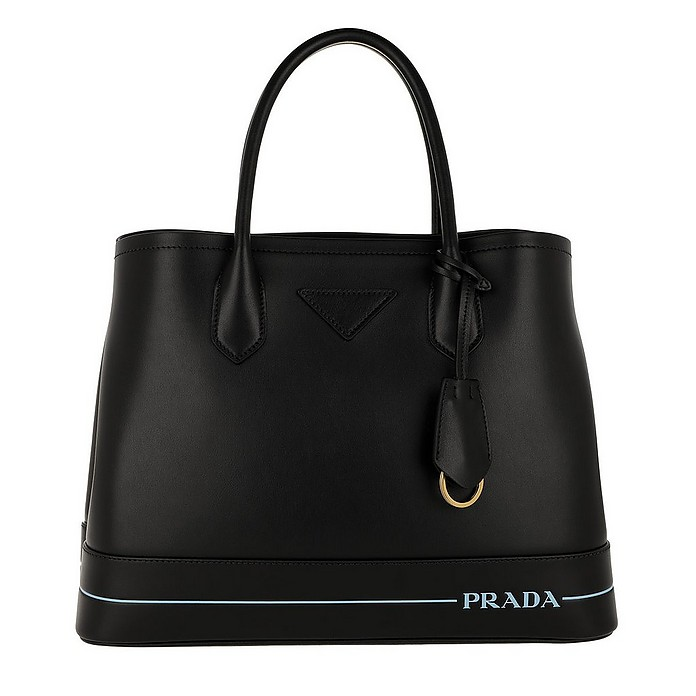 Mirage Two Tone Tote Leather Black - Prada
