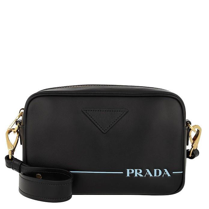 Mirage Leather Crossbody Bag Nero - Prada