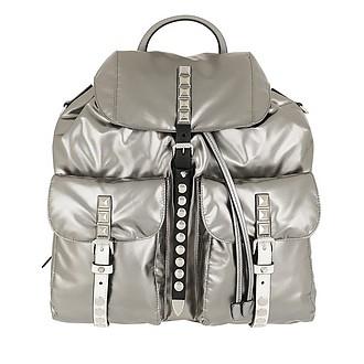 134520348442 Metallic Backpack Nylon Iron/Black - Prada