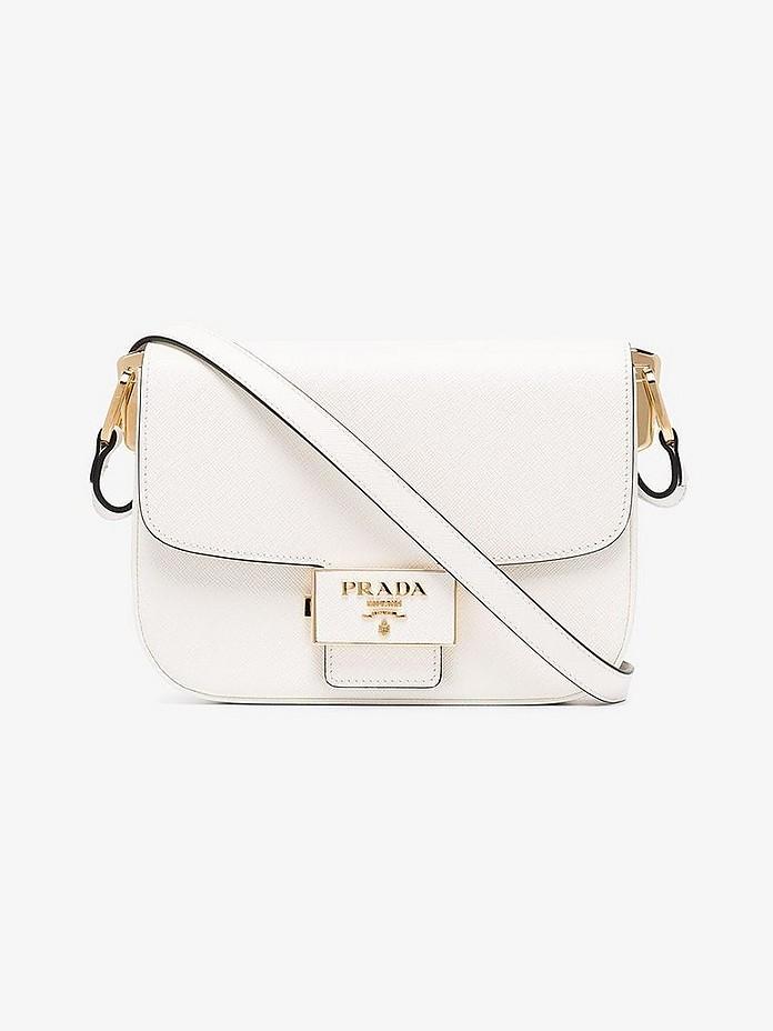 Prada Accessories Emblème Saffiano Leather Bag