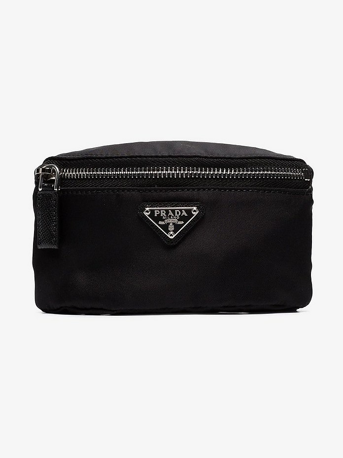 Prada Accessories Black nylon zip pouch arm band