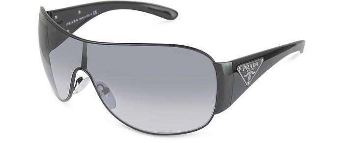 Temple Signature Shield Sunglasses - Prada