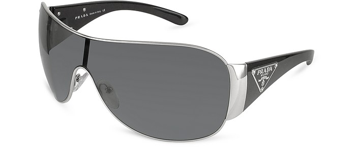Triangle-Crest Shield Sunglasses  - Prada