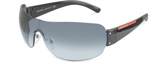 Linea Rossa -  Rimless Shield Sunglasses - Prada