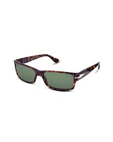 Rechteckige Sonnenbrille mit Kunststoffgestell und Logo - Persol