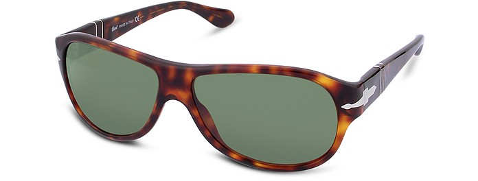 Arrow Signature Plastic Oval Sunglasses - Persol