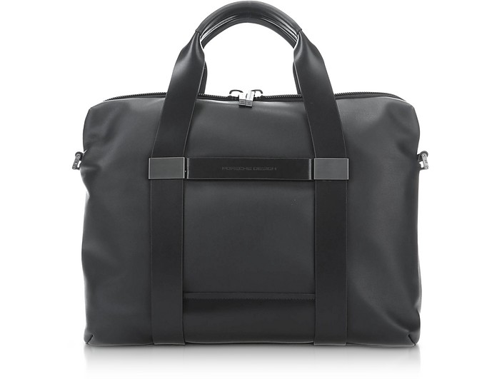 Shyrt 2.0 Black Leather SHZ BriefBag - Porsche Design