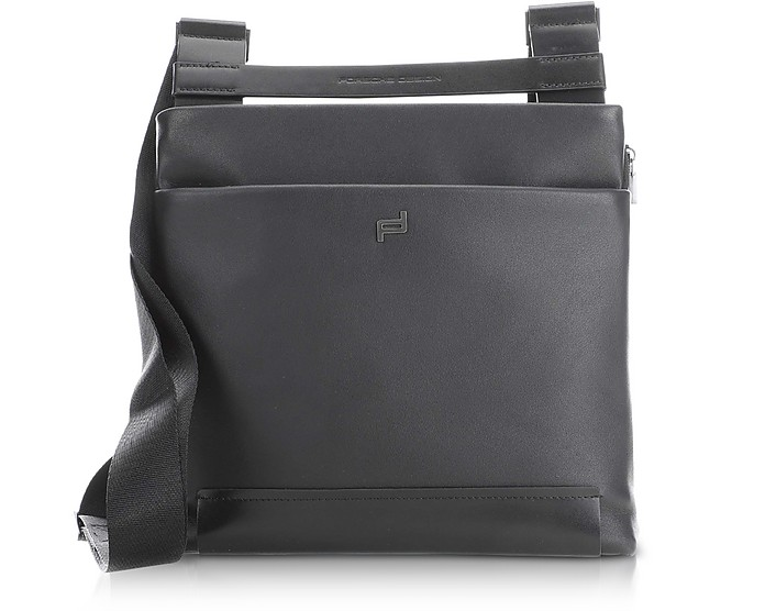 Shyrt 2.0 Black Leather XSVZ Shoulder Bag - Porsche Design