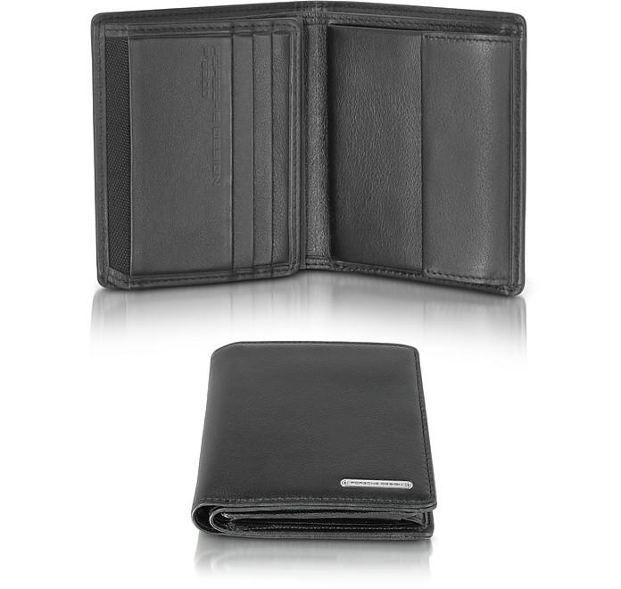 CL 2.0 Black Square Leather Wallet w/Coin Pocket - Porsche Design