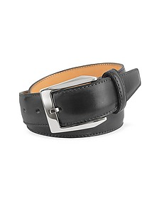 Men's Black Hand Painted Italian Leather Belt - Pakerson