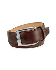 Men's Coffee Brown Hand Painted Italian Leather Belt - Pakerson