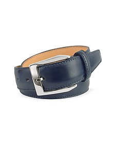 Men's Blue Hand Painted Italian Leather Belt - Pakerson
