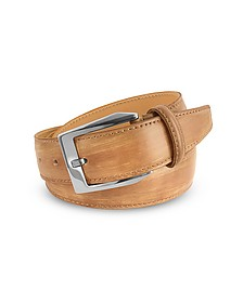 Men's Sand Hand Painted Italian Leather Belt  - Pakerson