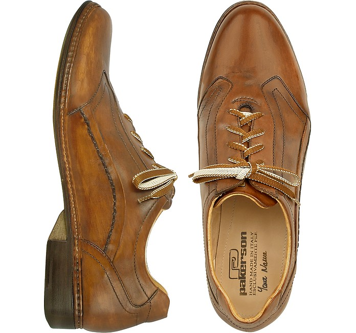 773da96008e0 Brown Italian Handmade Leather Lace-up Shoes - Pakerson