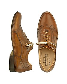 Brown Italian Handmade Leather Lace-up Shoes - Pakerson