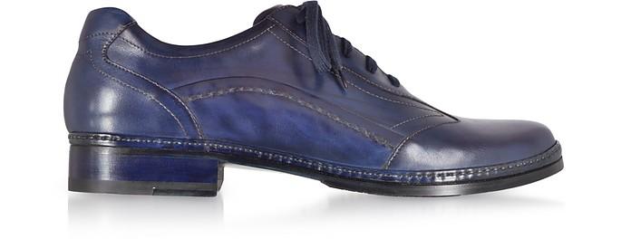 best sneakers ab1b9 df5b1 Scarpe Uomo Stringate in Pelle Blu Notte