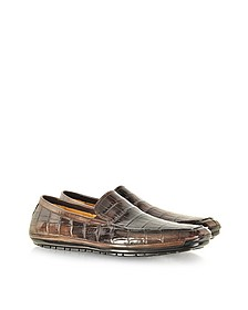 Coffee Alligator Loafer - Pakerson