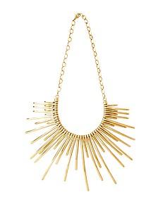 Sunburst Golden Brass Necklace
