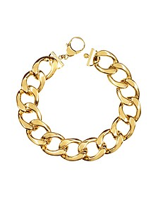 The Gwyneth Golden Brass Link Necklace