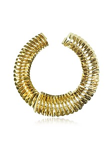 Gold Fishbone Necklace - Pluma