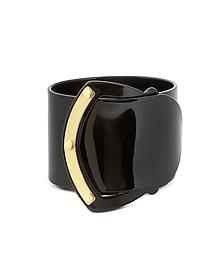 Black Resin Brass Viti Buckle Bracelet