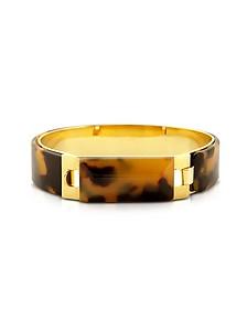 Tortoise Resin and Golden Brass Bracelet - Pluma