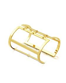 Brass Open Viti Cuff in Fumoso - Pluma