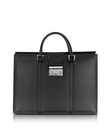 Power Elegance Double Handles Leather Briefcase - Pineider