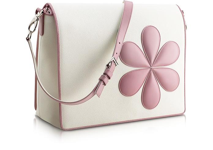 Pink Flower Messenger Changing Bag - Pineider
