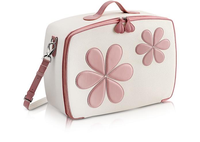 Mini-Reisetasche mit pinken Blumen - Pineider