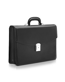 1949 - Black Calfskin Double Gusset Briefcase - Pineider