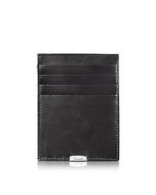 1949 Black Leather Multicard Holder - Pineider