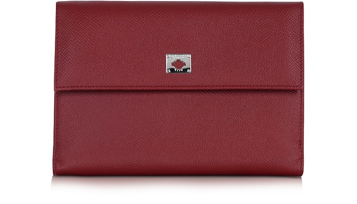 City Chic Burgundy Leather French Purse Wallet - Pineider