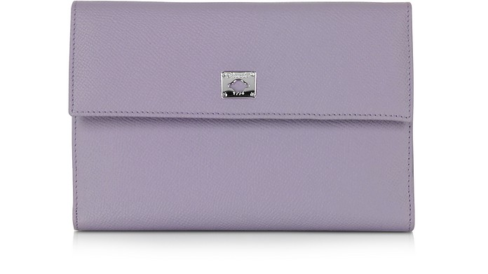City Chic Lilac Leather French Purse Wallet - Pineider