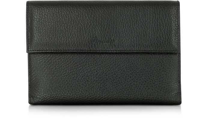 COUNTRY BLACK LEATHER FRENCH PURSE WALLET