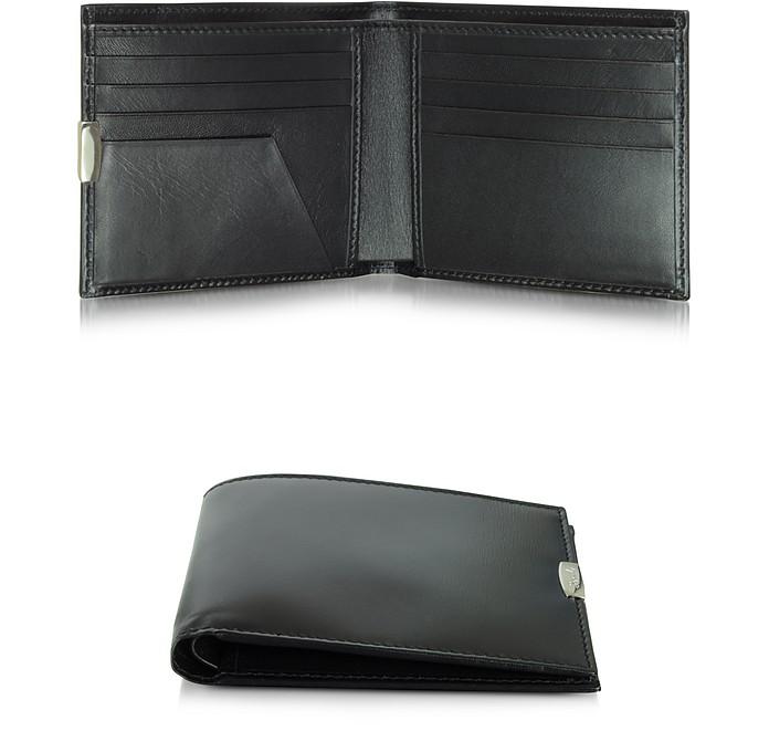 1949 kleine Brieftasche aus Leder in schwarz - Pineider