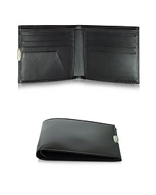 1949 Small Black Leather Men's Wallet - Pineider