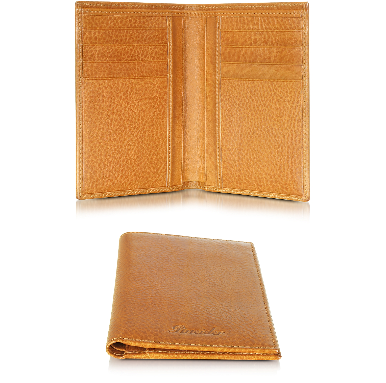 Country Cognac Leather Vertical Wallet