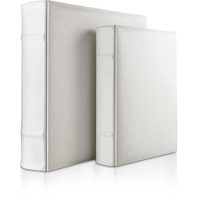 City Chic - White Grained Calf Leather Photo Album - Pineider