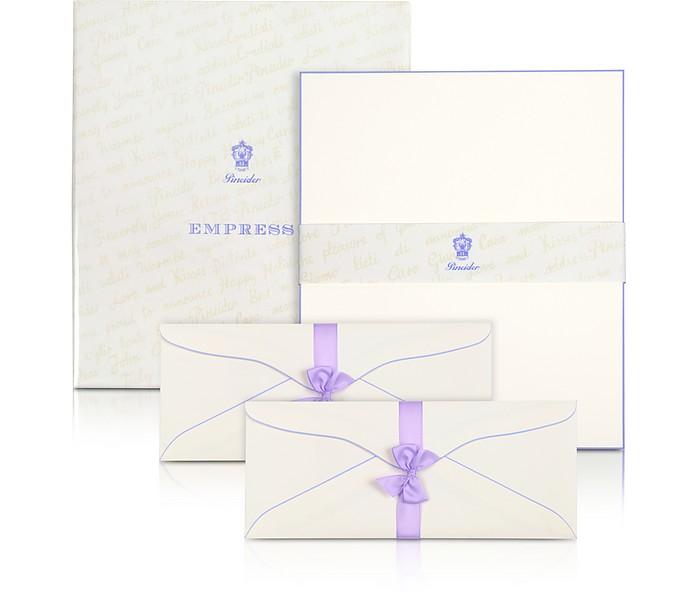 Empress - 50 Briefpapier mit handbemaltem Rand - Pineider