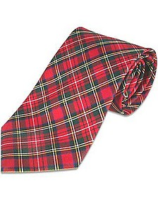 Plaid Silk Tie - Forzieri
