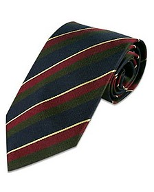 Regimental Silk Tie - Forzieri