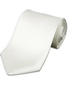 White Solid Silk Tie - Forzieri