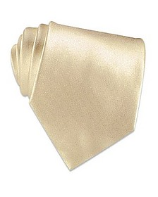 Ivory Solid Smooth Silk Tie - Forzieri