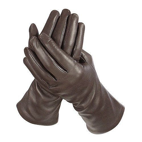 645039a9f0e4 Women s Cashmere Lined Dark Brown Italian Leather Long Gloves - Forzieri.   227.00 Actual transaction amount