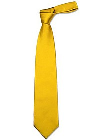 Solid Golden Yellow Extra-Long Tie - Forzieri